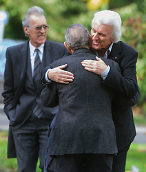 © Licensed to London News Pictures. 07/10/2014London, UK. Bruce Welch arriving for the funeral of singer Lynsey de Paul in Hendon, North London Photo credit : Simon Jacobs/LNP