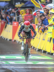 01.07.2017, Duesseldorf, GER, Tour de France, Prolog, im Bild ULISSI Diego (ITA, UAE Team Emirates) // Diego Ulissi of Italy during te Prolog of the 2017 Tour de France in Duesseldorf, Germany on 2017/07/01. EXPA Pictures © 2017, PhotoCredit: EXPA/ Martin Huber