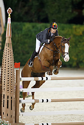 Cordon Pilar, (ESP), Gribouille du Lys, FEI President<br /> Logines Challenge Cup<br /> Furusiyya FEI Nations Cup Jumping Final - Barcelona 2015<br /> © Dirk Caremans<br /> 25/09/15
