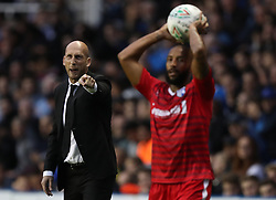 Reading manager Jaap Stam (left) on the touchline during the Carabao Cup, first round match at the Madejski Stadium, Reading.