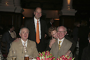 Gilbert and George, ( glasses)Thea Westreich, Ethan Wagner behind.  Gilbert and George Major Exhibition. Tate Modern. Afterwards dinner at Christchurch Spitafields. London. 13 February 2007.  -DO NOT ARCHIVE-© Copyright Photograph by Dafydd Jones. 248 Clapham Rd. London SW9 0PZ. Tel 0207 820 0771. www.dafjones.com.