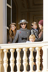 November 19, 2017 - Monte Carlo, MONACO - 19-11-2017 Monaco Beatrice Borromeo,Princess Caroline of Hanover and Charlotte Casiraghi and Raphael and Sacha Casiraghi during the Monaco National Day Celebrations in Monaco...© PPE/NieboerCredit: PPE/face to face.- No rights for the Netherlands  (Credit Image: © face to face via ZUMA Press)