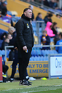 Mansfield Town Manager Graham Coughlan during the EFL Sky Bet League 2 match between Mansfield Town and Carlisle United at the One Call Stadium, Mansfield, England on 1 February 2020.