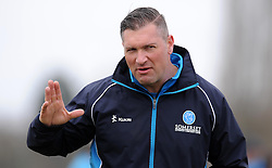 Somerset's Coach Darren Vennes - Photo mandatory by-line: Harry Trump/JMP - Mobile: 07966 386802 - 23/03/15 - SPORT - CRICKET - Pre Season Fixture - Day 1 - Somerset v Glamorgan - Taunton Vale Cricket Club, Somerset, England.