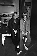 Sting and Alexi Sayle backstage at the Secret Policemans Ball - 1982