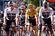 Geraint Thomas (GBR - Team Sky) yellow jersey during the 105th Tour de France 2018, Stage 15, Millau - Carcassonne (181,5 km) on July 22th, 2018 - Photo Luca Bettini / BettiniPhoto / ProSportsImages / DPPI