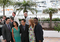 Martin Short, David Schwimmer, Jada Pinkett Smith, Ben Stiller, Jessica Chastain and Chris Rock, at the Madagascar 3: Europe's Most Wanted photocall at the 65th Cannes Film Festival. Friday 18th May 2012 in Cannes Film Festival, France.