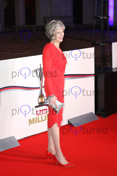 Theresa May Prime Minister, The Sun Military Awards Millies, Guildhall, London UK, 14 December 2016, Photo by Richard Goldschmidt