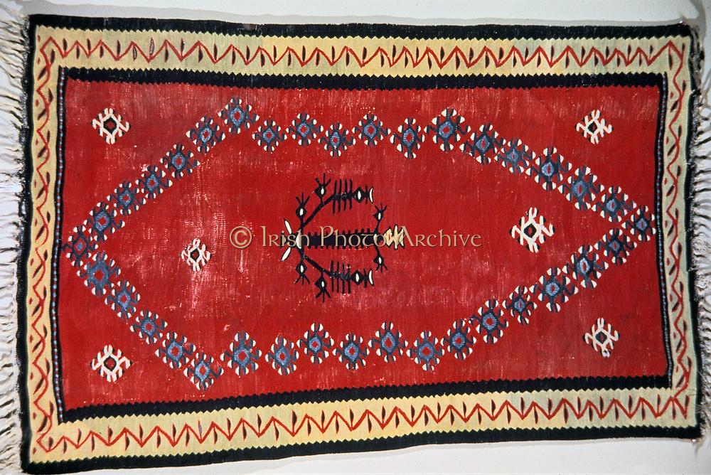 Prayer Kilim: wool. Balkans or Turkey. Islamic