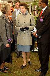 HRH The PRINCESS ROYAL at the 2005 RHS Chelsea Flower Show on 23rd May 2005<br />