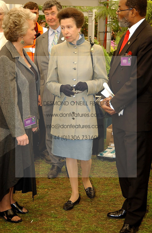 HRH The PRINCESS ROYAL at the 2005 RHS Chelsea Flower Show on 23rd May 2005<br /><br />NON EXCLUSIVE - WORLD RIGHTS