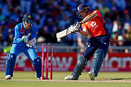 England T20 wicket keeper Jos Butler with a square cut boundary during the International T20 match between England and India at Old Trafford, Manchester, England on 3 July 2018. Picture by Simon Davies.