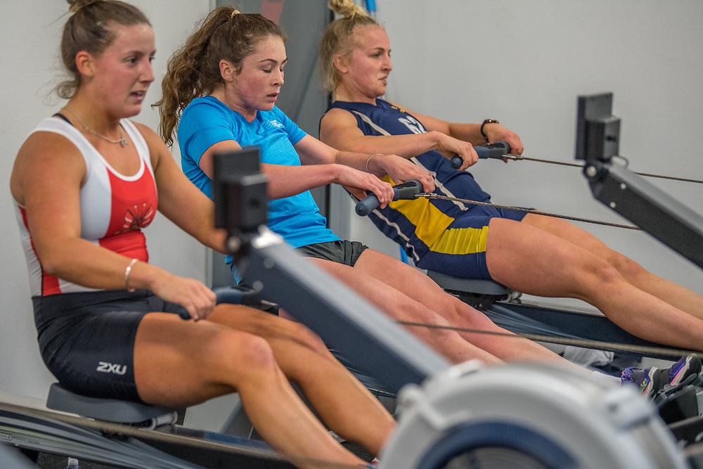 Grace Loveridge, Avon Rowing Club<br /> <br /> SRPC squad ergometer training at HPSNZ Apollo Sports Centre, Christchurch. Tuesday 20 November 2018 © Copyright photo Steve McArthur / @RowingCelebration