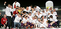 ◊Copyright:<br />GEPA pictures<br />◊Photographer:<br />Thomas Karner<br />◊Name:<br />Siegesjubel<br />◊Rubric:<br />Sport<br />◊Type:<br />Fussball<br />◊Event:<br />Stiegl Cup Finale, SK Rapid Wien vs Austria Magna Wien<br />◊Site:<br />Wien, Austria<br />◊Date:<br />01/06/05<br />◊Description:<br />Siegesjubel Austria Magna Wien, Pokal<br />◊Archive:<br />DCSTK-0106054011<br />◊RegDate:<br />01.06.2005<br />◊Note:<br />TM/TM - Nutzungshinweis: Es gelten unsere Allgemeinen Geschaeftsbedingungen (AGB) bzw. Sondervereinbarungen in schriftlicher Form. Die AGB finden Sie auf www.GEPA-pictures.com.<br />Use of picture only according to written agreements or to our business terms as shown on our website www.GEPA-pictures.com