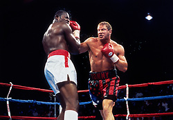"""Tommy Morrison fights Carl """"Truth"""" Williams, 1993"""