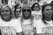 Sostenitori Lega in piazza Montecitorio