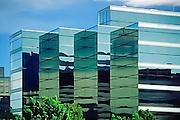 Glass office buildings in SLC, Utah