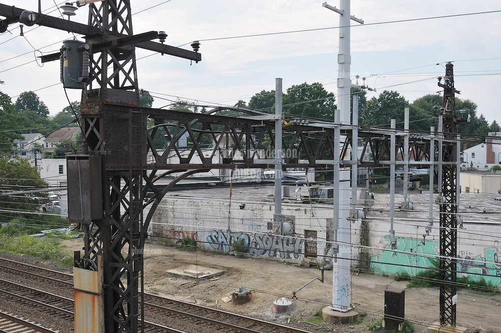 Additional View of the Catenary and other electrical equipment taken during Construction Progress Photography of the Railroad Station at Fairfield Metro Center - Site visit 14 of once per month Chronological Documentation.