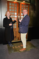 FERGUS & MARGOT HENDERSON at a private view of Made in Britain featuring contents from The Ivy sold to benefit Child Bereavement UK held at Sotheby's, 34-35 New Bond Street, London on 23rd March 2015.