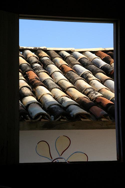 Fortaleza_MG, Brasil...Detalhe do telhado de uma casa em Fortaleza, Ceara...Detail of roof house in Fortaleza, Ceara...FOTO: BRUNO MAGALHAES / NITRO