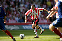 Photo: Jake Eastham.<br /> Southampton v Crewe. Coca Cola Championship.<br /> 27/08/2005.Djamel Belmandi makes an attacking run into the Crewe penalty area.