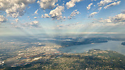 Aerial view of Tacoma and Commencement Bay. Dash Point is seen at center right. (Travis Ness / The Seattle Times)