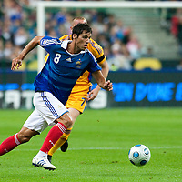 05 September 2009: French forward Yoann Gourcuff runs the ball during the World Cup 2010 qualifying football match France vs. Romania (1-1), on September 5, 2009 at the Stade de France stadium in Saint-Denis, near Paris, France.