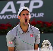 Tennis: BNP Paribas Open 2014 John Isner vs Novak Djokovic