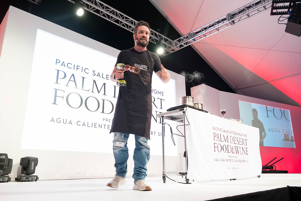 Participants of the 2018 Palm Desert Food and Wine Festival hosted by Palm Springs Life Magazine attend the festivals James Beard Luncheon featuring featuring chefs Lauren Werlin, Richard Blais, Fabio Viviani and Zac Young and emceed by Gail Simmons. Photos by Tiffany L. Clark