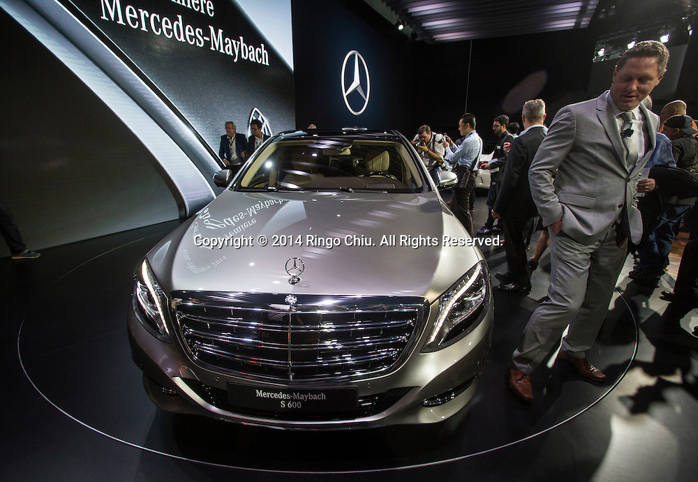 The new Mercedes-Maybach S600 is unveiled during the media preview days at the 2014 Los Angeles Auto Show on Wednesday November 19, 2014 in Los Angeles, California. The auto show opens to public on Friday, November 21.(Photo by Ringo Chiu/PHOTOFORMULA.com)