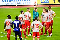 Fotball , Norgesmesterskapet , NM , Cupen<br /> Onsdag 24. Juni 2015 , 20150624<br /> Stabæk - Strømmen <br /> Fredrik Nilson blir utvist etter å ha taklet Yassine El Ghannasy<br /> Foto: Sjur Stølen / Digitalsport