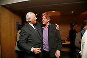 SIR EVELYN DE ROTHSCHILD AND SIR BOB GELDOF. After-drinks JOSEPHINE HART Poetry Hour. British Library. Euston Rd. London. 22 March 2006. ONE TIME USE ONLY - DO NOT ARCHIVE  © Copyright Photograph by Dafydd Jones 66 Stockwell Park Rd. London SW9 0DA Tel 020 7733 0108 www.dafjones.com