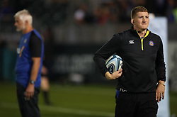 Bath Rugby General Manager Stuart Hooper (right) and Director of Rugby Todd Blackadder (left) during warm up ahead of the Gallagher Premiership match at the Recreation Ground, Bath. PRESS ASSOCIATION Photo. Picture date: Friday October 5, 2018. See PA story RUGBYU Bath. Photo credit should read: Nick Potts/PA Wire. RESTRICTIONS: Editorial use only. No commercial use.