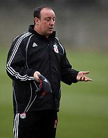Photo: Paul Thomas.<br />Liverpool training session. UEFA Champions League. 05/03/2007.<br /><br />Rafael Benitez, Liverpool manager.