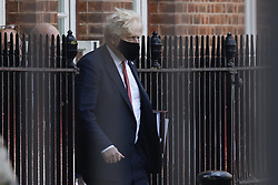 © Licensed to London News Pictures. 08/07/2021. London, UK. Prime Minister Boris Johnson leaves Downing Street the morning after England beat Denmark 2-1 to reach the final of EURO 2020 at Wembley. Photo credit: Peter Macdiarmid/LNP