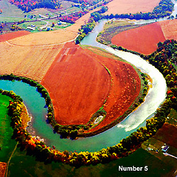 Waterways, Aerial, Art, Abstract, Midwest