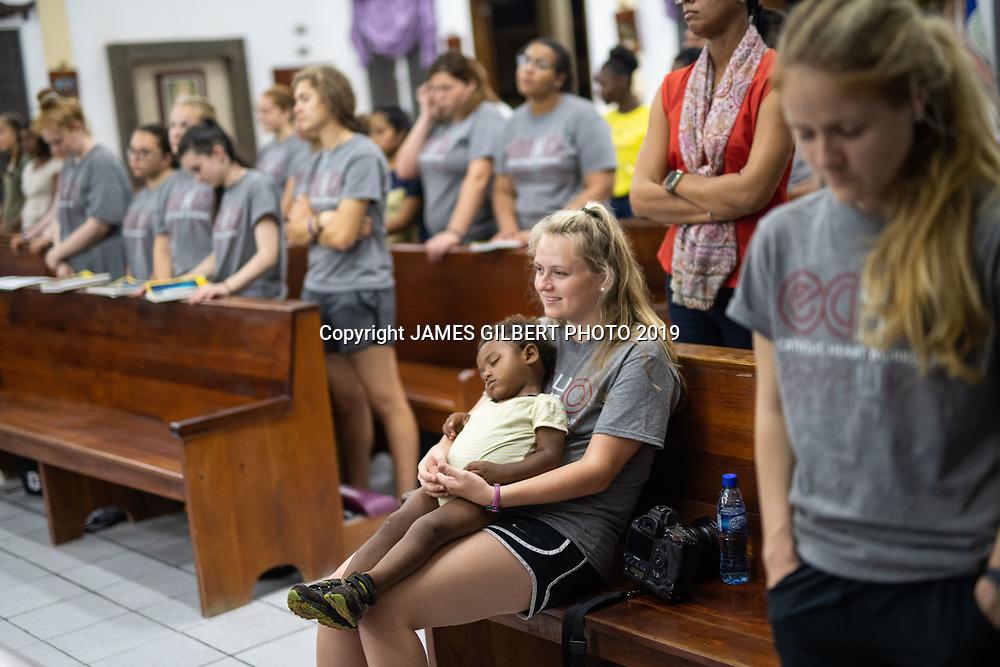 Sarah Raynor <br /> <br /> St Joe mission trip to Belize 2019. JAMES GILBERT PHOTO 2019