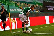 Tabata for a corner kick during the Liga NOS match between Sporting Lisbon and Belenenses SAD at Estadio Jose Alvalade, Lisbon, Portugal on 21 April 2021.