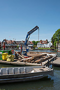 Henley on Thames. United Kingdom.   Pilling Equipment, loading with Course building materials,Thursday  17/05/2018<br /> <br /> [Mandatory Credit: Peter SPURRIER:Intersport Images]<br /> <br /> LEICA CAMERA AG  LEICA Q (Typ 116)  f5  1/1000sec  35mm  42.5MB