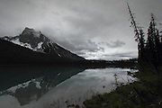 The picturesque Emerald Lake, near Field, just over the British Columbia border in the Yoho National Park. Unfortately the weather wasn't great, but it was still atmospheric and a great walk around the tiny lake.