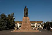 Statue before the Palace of the Republik, Almaty, Kazakhstan