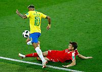 Adem Ljajic (Serbia) tackling on Neymar (Brazil)<br /> Moscow 27-06-2018 Football FIFA World Cup Russia  2018 <br /> Serbia - Brazil / Serbia - Brasile<br /> Foto Matteo Ciambelli/Insidefoto