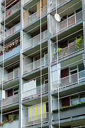 apartment building at Hansaviertel modernist housing estate in Berlin Germany
