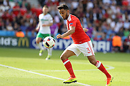 Neil Taylor of Wales in action. UEFA Euro 2016, last 16 , Wales v Northern Ireland at the Parc des Princes in Paris, France on Saturday 25th June 2016, pic by  Andrew Orchard, Andrew Orchard sports photography.
