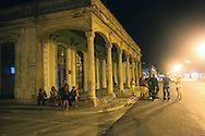 Night street in Manzanillo, Granma, Cuba.