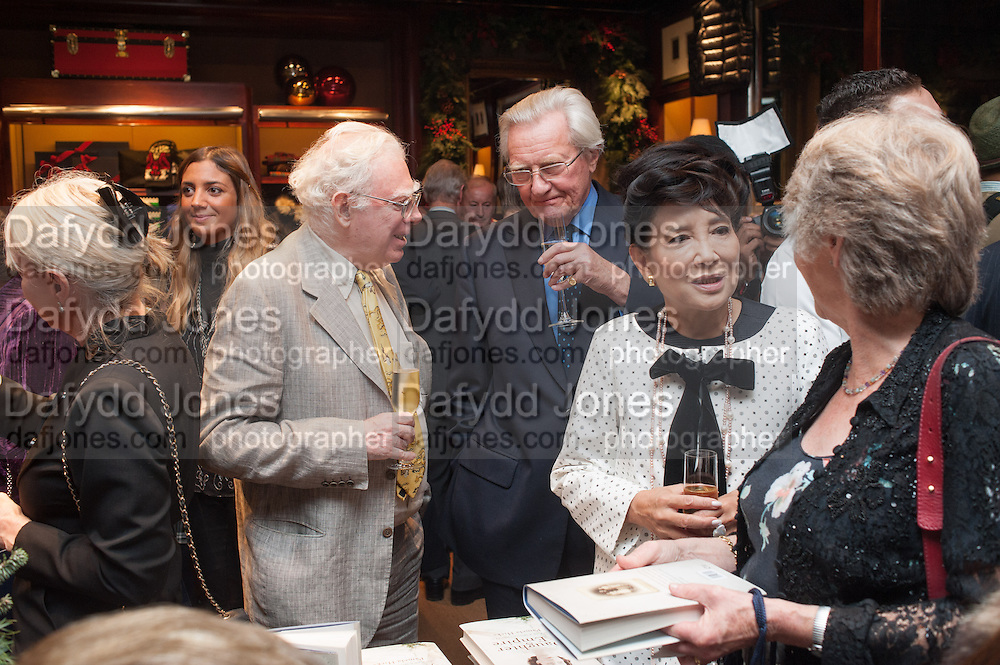 LORD HESELTINE; JUNG CHANG, Book launch for ' Daughter of Empire - Life as a Mountbatten' by Lady Pamela Hicks. Ralph Lauren, 1 New Bond St. London. 12 November 2012.