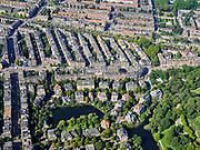 Nederland, Noord-Holland, Amsterdam, 02-09-2020; eind van het Vondelpark met Oranje Nassaulaan. Verder links Koninginneweg, vlnr in het midden Amstelveenseweg, Schinkelkade.<br /> end of the Vondelpark with Oranje Nassualaan. Further left Koninginneweg, left to right in the middle Amstelveenseweg, Schinkelkade.<br /> <br /> luchtfoto (toeslag op standard tarieven);<br /> aerial photo (additional fee required);<br /> copyright foto/photo Siebe Swart