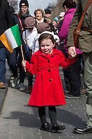 Catherine Moore (4) enjoying the Easter Monday 1916 commemorations<br />Pic:Mark Condren<br />28.3.2016