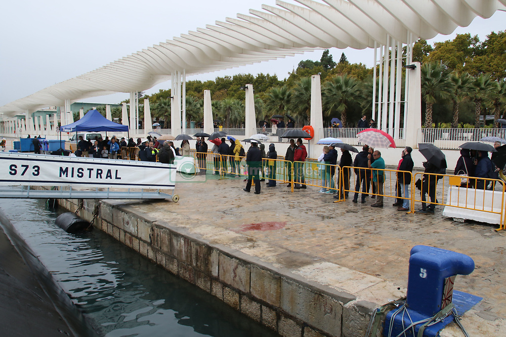 October 31, 2018 - 31 october 2018 (Malaga ) The Mistral submarine has stopped at the Port of Malaga from today until November 2. The Mistral submarine is the third of the Galerna class. During the first semester of this year he has participated in the Operation 'Sea Guardian', dedicated to the control of maritime traffic and detection of illicit activities that may affect the stability of the coastal states of the Atlantic Alliance. Its crew consists of 63 men and women, and after its stopover in the Port of Malaga it will continue with various maneuvers and training exercises. (Credit Image: © Lorenzo Carnero/ZUMA Wire)