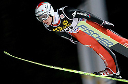 Simon Ammann (SUI) competes during Qualification round of the FIS Ski Jumping World Cup event of the 58th Four Hills ski jumping tournament, on January 5, 2010 in Bischofshofen, Austria. (Photo by Vid Ponikvar / Sportida)
